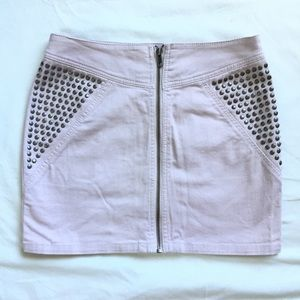 H&m divided light pink studded mini skirt